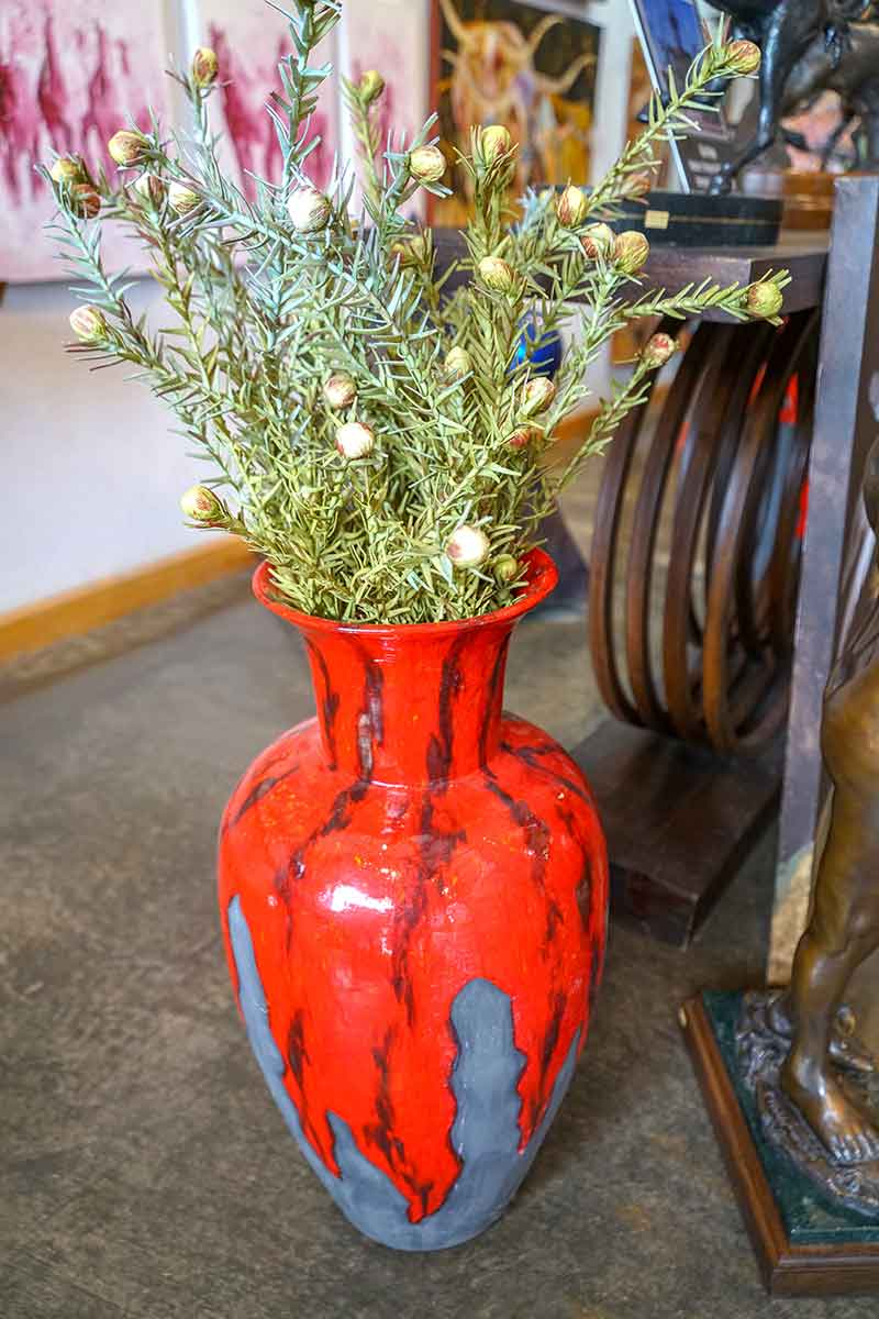 Pottery Art - Red Vase Gallery